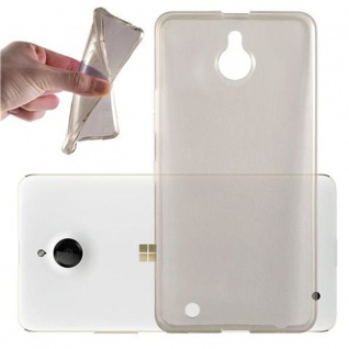 Cadorabo Hülle für Nokia Lumia 850 in TRANSPARENT SCHWARZ - Handyhülle aus flexiblem TPU Silikon - Silikonhülle Schutzhülle Ultra Slim Soft Back Cover Case Bumper