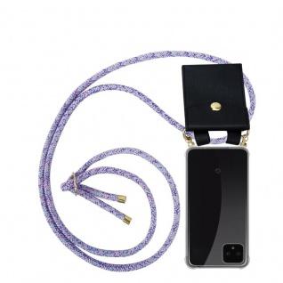 Cadorabo Handy Kette für Google Pixel 4 in UNICORN - Silikon Necklace Umhänge Hülle mit Gold Ringen, Kordel Band Schnur und abnehmbarem Etui ? Schutzhülle
