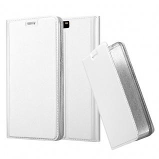 Cadorabo Hülle für Huawei P10 PLUS in CLASSY SILBER - Handyhülle mit Magnetverschluss, Standfunktion und Kartenfach - Case Cover Schutzhülle Etui Tasche Book Klapp Style