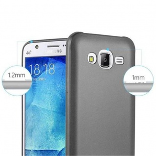 Cadorabo Hülle für Samsung Galaxy J5 2015 in METALLIC GRAU - Handyhülle aus flexiblem TPU Silikon - Silikonhülle Schutzhülle Ultra Slim Soft Back Cover Case Bumper - Vorschau 2