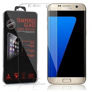 Cadorabo Panzer Folie für Samsung Galaxy S7 EDGE - Schutzfolie in KRISTALL KLAR - Gehärtetes (Tempered) Display-Schutzglas in 9H Härte mit 3D Touch Kompatibilität