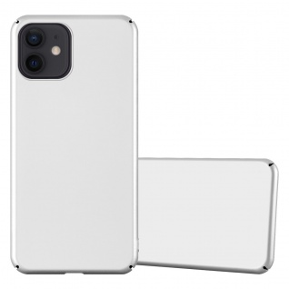 """Cadorabo Hülle für Apple iPhone 12 Mini (5, 4"""" Zoll) in METALL SILBER Hardcase Handyhülle aus Plastik gegen Kratzer und Stöße Schutzhülle Bumper Ultra Slim Back Case Hard Cover"""