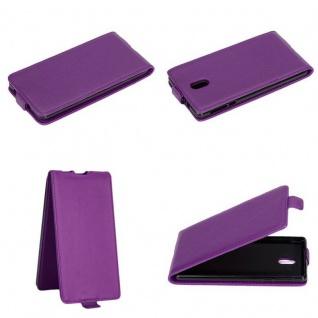 Cadorabo Hülle für Nokia 3 2017 in FLIEDER VIOLETT - Handyhülle im Flip Design aus glattem Kunstleder - Case Cover Schutzhülle Etui Tasche Book Klapp Style
