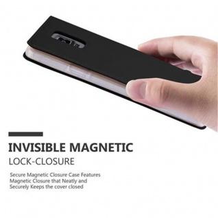 Cadorabo Hülle für Samsung Galaxy NOTE 4 in CLASSY SCHWARZ - Handyhülle mit Magnetverschluss, Standfunktion und Kartenfach - Case Cover Schutzhülle Etui Tasche Book Klapp Style - Vorschau 5