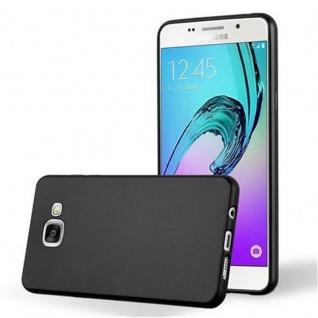Cadorabo Hülle für Samsung Galaxy A5 2016 in METALLIC SCHWARZ - Handyhülle aus flexiblem TPU Silikon - Silikonhülle Schutzhülle Ultra Slim Soft Back Cover Case Bumper