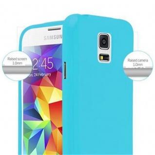 Cadorabo Hülle für Samsung Galaxy S5 MINI / S5 MINI DUOS in JELLY HELL BLAU - Handyhülle aus flexiblem TPU Silikon - Silikonhülle Schutzhülle Ultra Slim Soft Back Cover Case Bumper - Vorschau 5