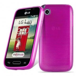 Cadorabo Hülle für LG L40 in PINK - Handyhülle aus flexiblem TPU Silikon - Silikonhülle Schutzhülle Ultra Slim Soft Back Cover Case Bumper
