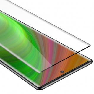 Cadorabo Vollbild Panzer Folie für Samsung Galaxy NOTE 10 PLUS Schutzfolie in TRANSPARENT mit SCHWARZ Gehärtetes (Tempered) Display-Schutzglas in 9H Härte mit 3D Touch