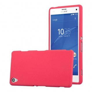 Cadorabo Hülle für Sony Xperia Z3 - Hülle in FROST ROT ? Handyhülle aus TPU Silikon im matten Frosted Design - Ultra Slim Soft Backcover Case Bumper