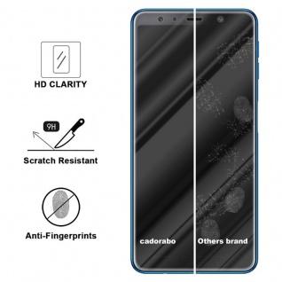 Cadorabo Panzer Folie für Samsung Galaxy A7 2018 - Schutzfolie in KRISTALL KLAR - Gehärtetes (Tempered) Display-Schutzglas in 9H Härte mit 3D Touch Kompatibilität - Vorschau 3