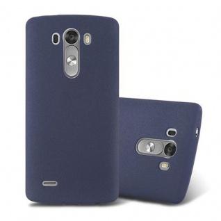 Cadorabo Hülle für LG G3 in FROST DUNKEL BLAU - Handyhülle aus flexiblem TPU Silikon - Silikonhülle Schutzhülle Ultra Slim Soft Back Cover Case Bumper