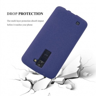 Cadorabo Hülle für LG K8 2016 in FROST DUNKEL BLAU - Handyhülle aus flexiblem TPU Silikon - Silikonhülle Schutzhülle Ultra Slim Soft Back Cover Case Bumper - Vorschau 5