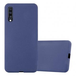 Cadorabo Hülle für Samsung Galaxy A70 in FROST DUNKEL BLAU Handyhülle aus flexiblem TPU Silikon Silikonhülle Schutzhülle Ultra Slim Soft Back Cover Case Bumper