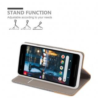 Cadorabo Hülle für Google Pixel 2 in HELL GRAU BRAUN - Handyhülle mit Magnetverschluss, Standfunktion und Kartenfach - Case Cover Schutzhülle Etui Tasche Book Klapp Style - Vorschau 3