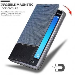 Cadorabo Hülle für Samsung Galaxy J1 MINI 2016 in DUNKEL BLAU SCHWARZ - Handyhülle mit Magnetverschluss, Standfunktion und Kartenfach - Case Cover Schutzhülle Etui Tasche Book Klapp Style - Vorschau 3
