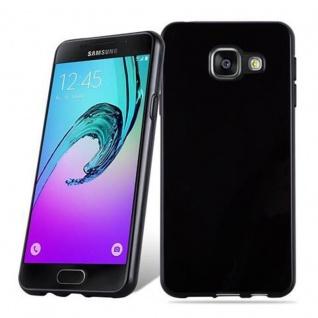 Cadorabo Hülle für Samsung Galaxy A3 2016 in SCHWARZ - Handyhülle aus flexiblem TPU Silikon - Silikonhülle Schutzhülle Ultra Slim Soft Back Cover Case Bumper