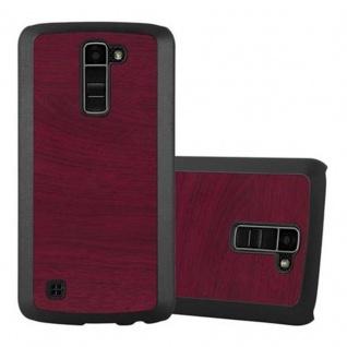 Cadorabo Hülle für LG K10 2016 in WOODY ROT ? Hardcase Handyhülle aus Plastik gegen Kratzer und Stöße ? Schutzhülle Bumper Ultra Slim Back Case Hard Cover