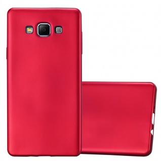 Cadorabo Hülle für Samsung Galaxy A7 2015 in METALLIC ROT - Handyhülle aus flexiblem TPU Silikon - Silikonhülle Schutzhülle Ultra Slim Soft Back Cover Case Bumper