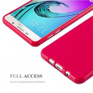 Cadorabo Hülle für Samsung Galaxy A5 2015 in JELLY ROT - Handyhülle aus flexiblem TPU Silikon - Silikonhülle Schutzhülle Ultra Slim Soft Back Cover Case Bumper - Vorschau 4