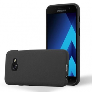 Cadorabo Hülle für Samsung Galaxy A3 2017 in FROST SCHWARZ - Handyhülle aus flexiblem TPU Silikon - Silikonhülle Schutzhülle Ultra Slim Soft Back Cover Case Bumper