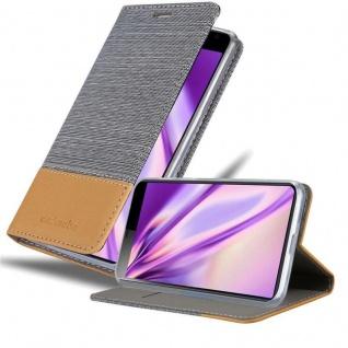 Cadorabo Hülle für Sony Xperia 10 in HELL GRAU BRAUN Handyhülle mit Magnetverschluss, Standfunktion und Kartenfach Case Cover Schutzhülle Etui Tasche Book Klapp Style