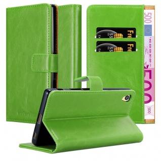 Cadorabo Hülle für Sony Xperia Z5 PREMIUM in GRAS GRÜN ? Handyhülle mit Magnetverschluss, Standfunktion und Kartenfach ? Case Cover Schutzhülle Etui Tasche Book Klapp Style
