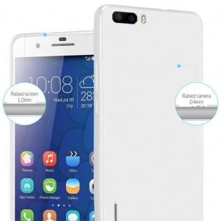 Cadorabo Hülle für Honor 6 PLUS in METALLIC SILBER - Handyhülle aus flexiblem TPU Silikon - Silikonhülle Schutzhülle Ultra Slim Soft Back Cover Case Bumper - Vorschau 4
