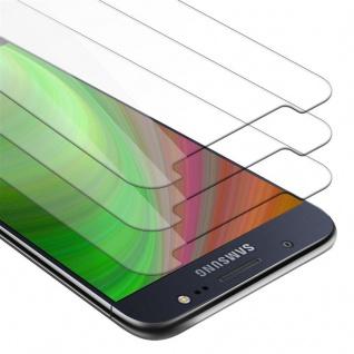 Cadorabo 3x Panzer Folie für Samsung Galaxy J5 2016 - Schutzfolie in KRISTALL KLAR - 3er Pack Gehärtetes (Tempered) Display-Schutzglas in 9H Härte mit 3D Touch Kompatibilität