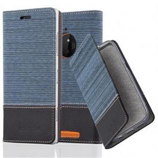 Cadorabo Hülle für Nokia Lumia 830 in DUNKEL BLAU SCHWARZ - Handyhülle mit Magnetverschluss, Standfunktion und Kartenfach - Case Cover Schutzhülle Etui Tasche Book Klapp Style