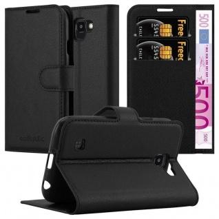 Cadorabo Hülle für LG K3 2017 in PHANTOM SCHWARZ - Handyhülle mit Magnetverschluss, Standfunktion und Kartenfach - Case Cover Schutzhülle Etui Tasche Book Klapp Style