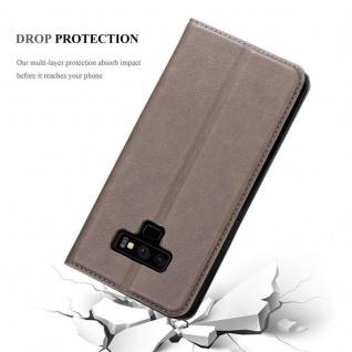Cadorabo Hülle für Samsung Galaxy NOTE 9 in KAFFEE BRAUN - Handyhülle mit Magnetverschluss, Standfunktion und Kartenfach - Case Cover Schutzhülle Etui Tasche Book Klapp Style - Vorschau 5