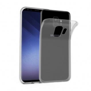 Cadorabo Hülle für Samsung Galaxy S9 in VOLL TRANSPARENT - Handyhülle aus flexiblem TPU Silikon - Silikonhülle Schutzhülle Ultra Slim Soft Back Cover Case Bumper
