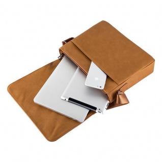 """"""" Cadorabo ? Laptop / Tablet Tasche für 13''"""" Zoll Notebooks aus Kunstleder mit Fächern, Gurt und Tabletfach ? Notebook Umhängetasche Aktentasche Tragetasche Computertasche in KARAMELL BRAUN"""" - Vorschau 5"""