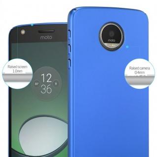 Cadorabo Hülle für Motorola MOTO Z PLAY in METALL BLAU ? Hardcase Handyhülle aus Plastik gegen Kratzer und Stöße ? Schutzhülle Bumper Ultra Slim Back Case Hard Cover - Vorschau 4