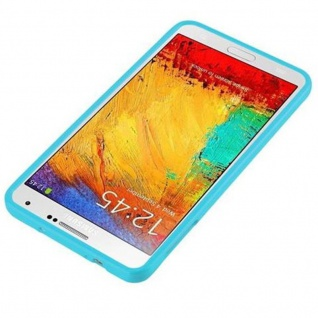 Cadorabo Hülle für Samsung Galaxy NOTE 3 in JELLY HELL BLAU ? Handyhülle aus flexiblem TPU Silikon ? Silikonhülle Schutzhülle Ultra Slim Soft Back Cover Case Bumper - Vorschau 2