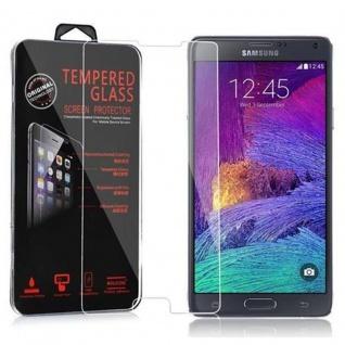 Cadorabo Panzer Folie für Samsung Galaxy NOTE 4 - Schutzfolie in KRISTALL KLAR - Gehärtetes (Tempered) Display-Schutzglas in 9H Härte mit 3D Touch Kompatibilität