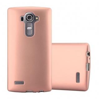 Cadorabo Hülle für LG G4 in METALLIC ROSE GOLD - Handyhülle aus flexiblem TPU Silikon - Silikonhülle Schutzhülle Ultra Slim Soft Back Cover Case Bumper
