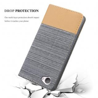 Cadorabo Hülle für HTC Desire 12 in HELL GRAU BRAUN - Handyhülle mit Magnetverschluss, Standfunktion und Kartenfach - Case Cover Schutzhülle Etui Tasche Book Klapp Style - Vorschau 5