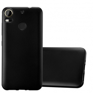 Cadorabo Hülle für HTC Desire 10 PRO in METALLIC SCHWARZ Handyhülle aus flexiblem TPU Silikon Silikonhülle Schutzhülle Ultra Slim Soft Back Cover Case Bumper