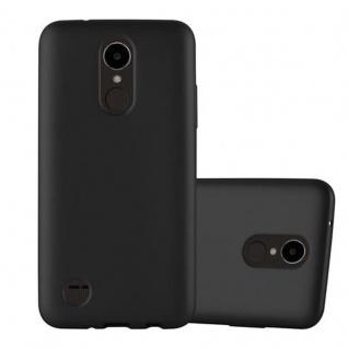 Cadorabo Hülle für LG K4 2017 in METALLIC SCHWARZ - Handyhülle aus flexiblem TPU Silikon - Silikonhülle Schutzhülle Ultra Slim Soft Back Cover Case Bumper