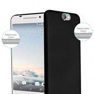 Cadorabo Hülle für HTC One A9 in METALL SCHWARZ - Hardcase Handyhülle aus Plastik gegen Kratzer und Stöße - Schutzhülle Bumper Ultra Slim Back Case Hard Cover - Vorschau 2