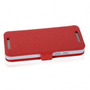 Cadorabo Hülle für HTC ONE MINI M4 (1.Gen.) - Hülle in ICY ROT - Handyhülle mit Standfunktion und Kartenfach im Ultra Slim Design - Case Cover Schutzhülle Etui Tasche Book - Vorschau 3