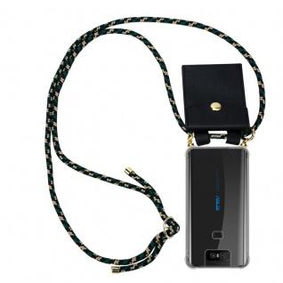 Cadorabo Handy Kette für Asus ZenFone 6 in CAMOUFLAGE Silikon Necklace Umhänge Hülle mit Gold Ringen, Kordel Band Schnur und abnehmbarem Etui Schutzhülle