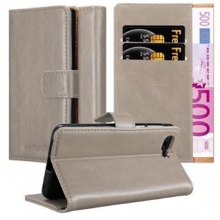 Cadorabo Hülle für OnePlus 5 in CAPPUCCINO BRAUN Handyhülle mit Magnetverschluss, Standfunktion und Kartenfach Case Cover Schutzhülle Etui Tasche Book Klapp Style