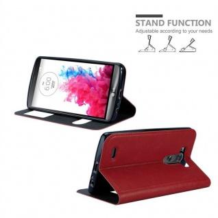 Cadorabo Hülle für LG G3 in SAFRAN ROT ? Handyhülle mit Magnetverschluss, Standfunktion und 2 Sichtfenstern ? Case Cover Schutzhülle Etui Tasche Book Klapp Style - Vorschau 4