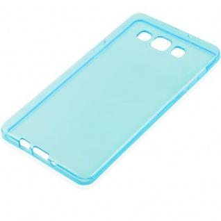 Cadorabo Hülle für Samsung Galaxy A7 2015 in TRANSPARENT BLAU - Handyhülle aus flexiblem TPU Silikon - Silikonhülle Schutzhülle Ultra Slim Soft Back Cover Case Bumper - Vorschau 2