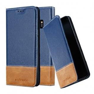 Cadorabo Hülle für Samsung Galaxy S9 in DUNKEL BLAU BRAUN ? Handyhülle mit Magnetverschluss, Standfunktion und Kartenfach ? Case Cover Schutzhülle Etui Tasche Book Klapp Style