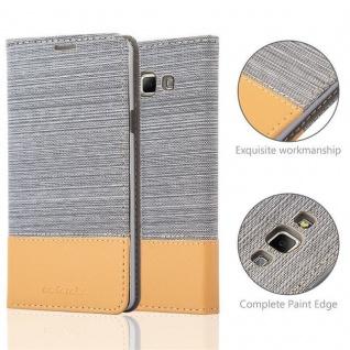 Cadorabo Hülle für Samsung Galaxy A7 2015 in HELL GRAU BRAUN - Handyhülle mit Magnetverschluss, Standfunktion und Kartenfach - Case Cover Schutzhülle Etui Tasche Book Klapp Style - Vorschau 2