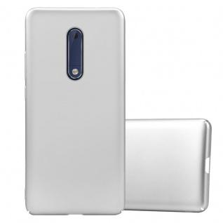 Cadorabo Hülle für Nokia 5 2017 in METALL SILBER Hardcase Handyhülle aus Plastik gegen Kratzer und Stöße Schutzhülle Bumper Ultra Slim Back Case Hard Cover