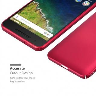 Cadorabo Hülle für Huawei NEXUS 6P in METALL ROT - Hardcase Handyhülle aus Plastik gegen Kratzer und Stöße - Schutzhülle Bumper Ultra Slim Back Case Hard Cover - Vorschau 5